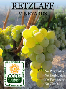 Retzlaff Vineyards is CCOF certified organic wines
